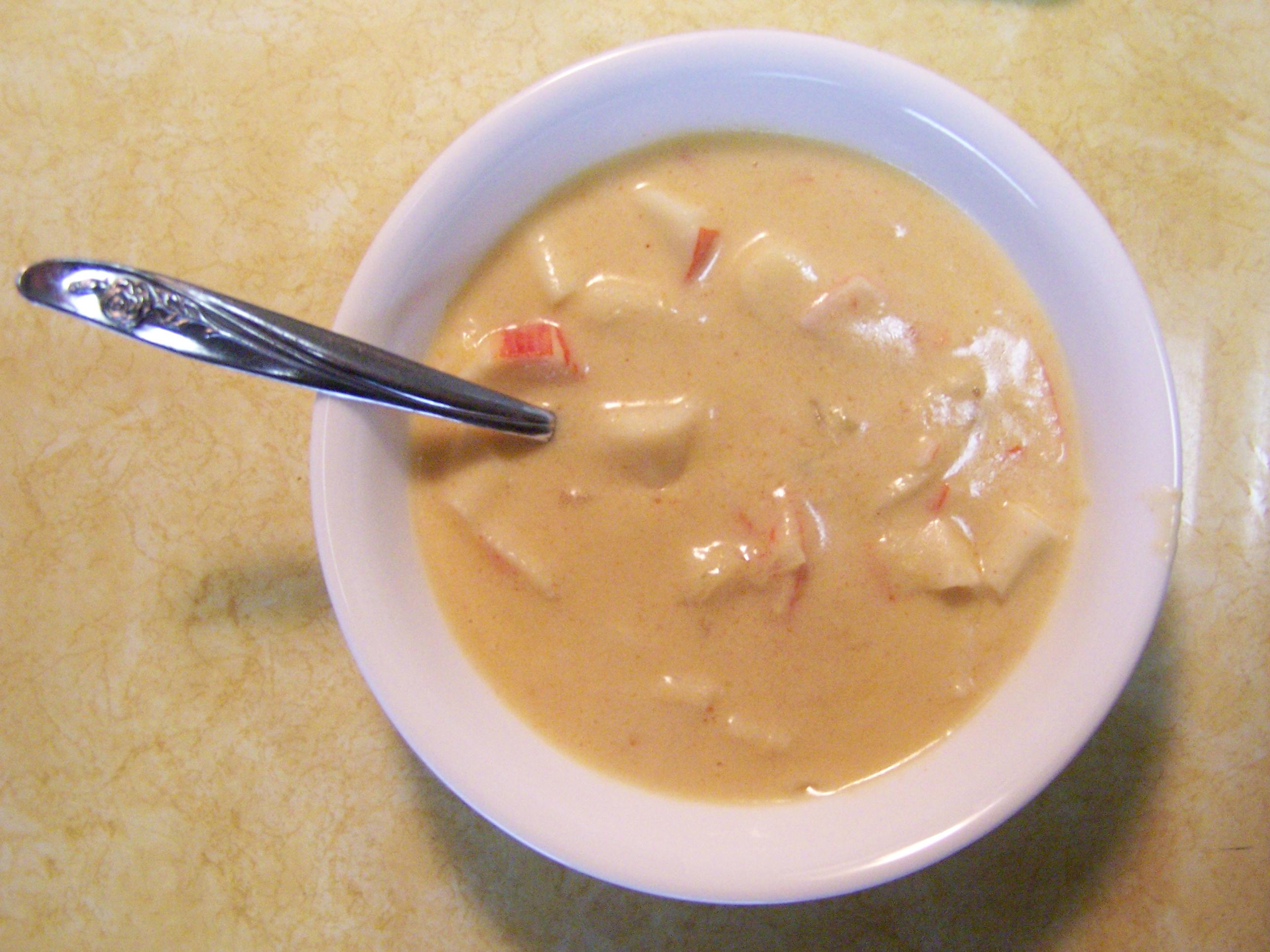 cream of crab bisque