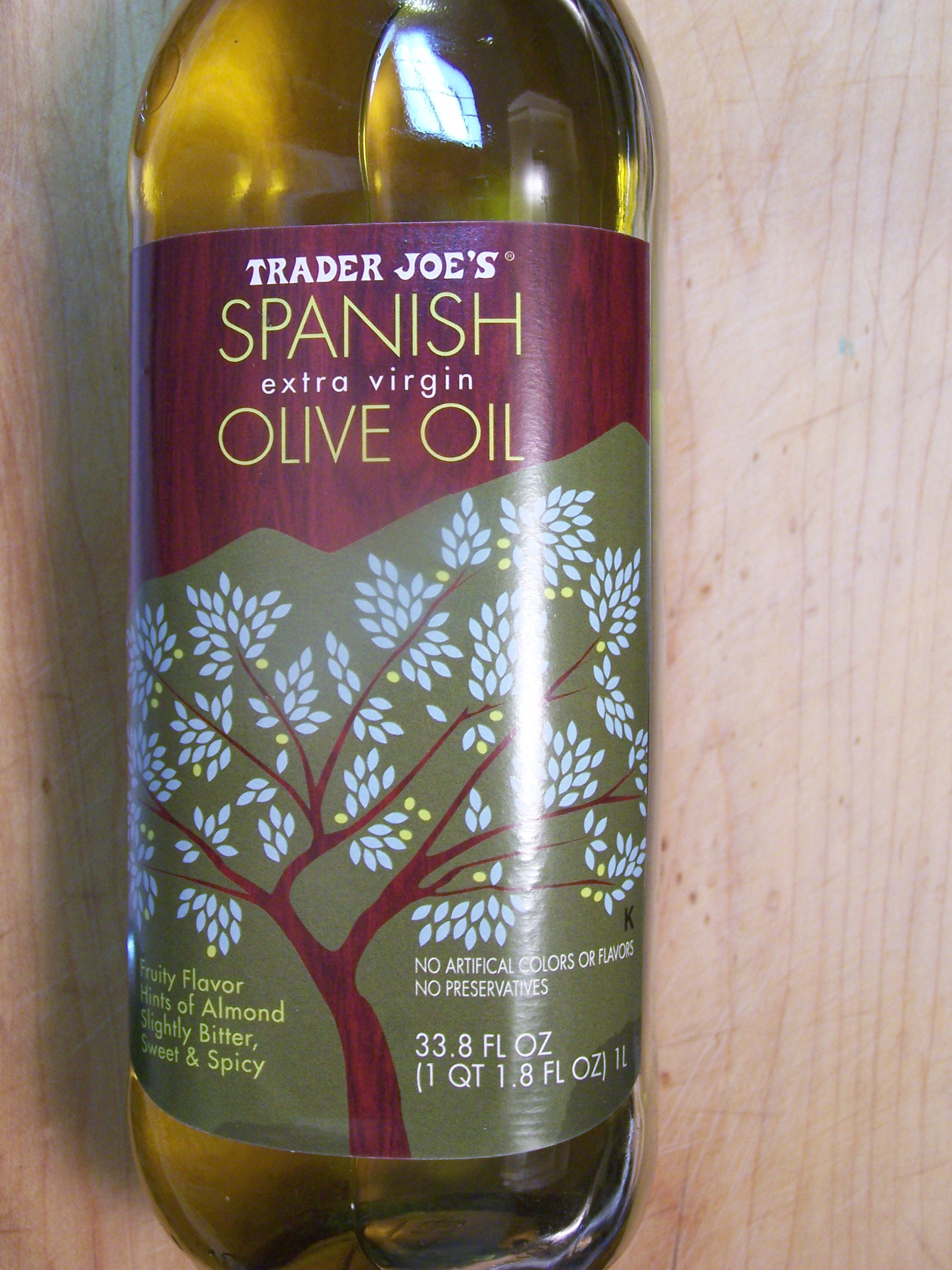 Trader joe s spanish extra virgin olive oil food review for Trader joe s fish oil