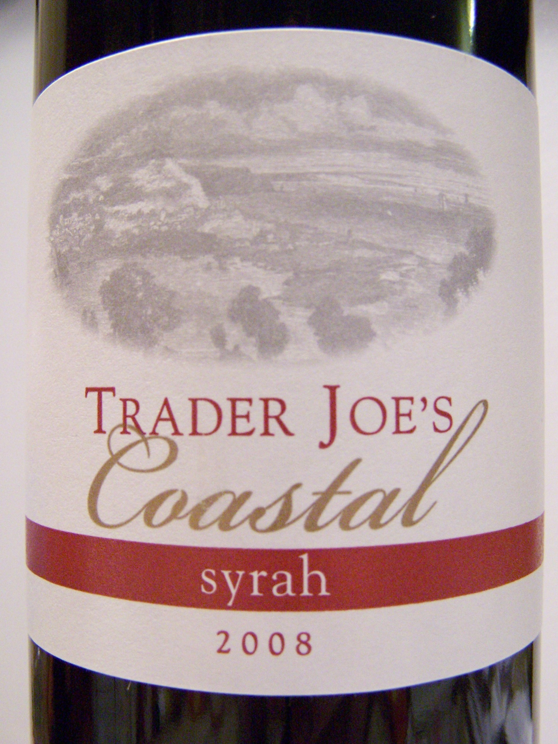 Trader Joe's Coastal Syrah – 2008 – Wine Review « Ain't Found A ...