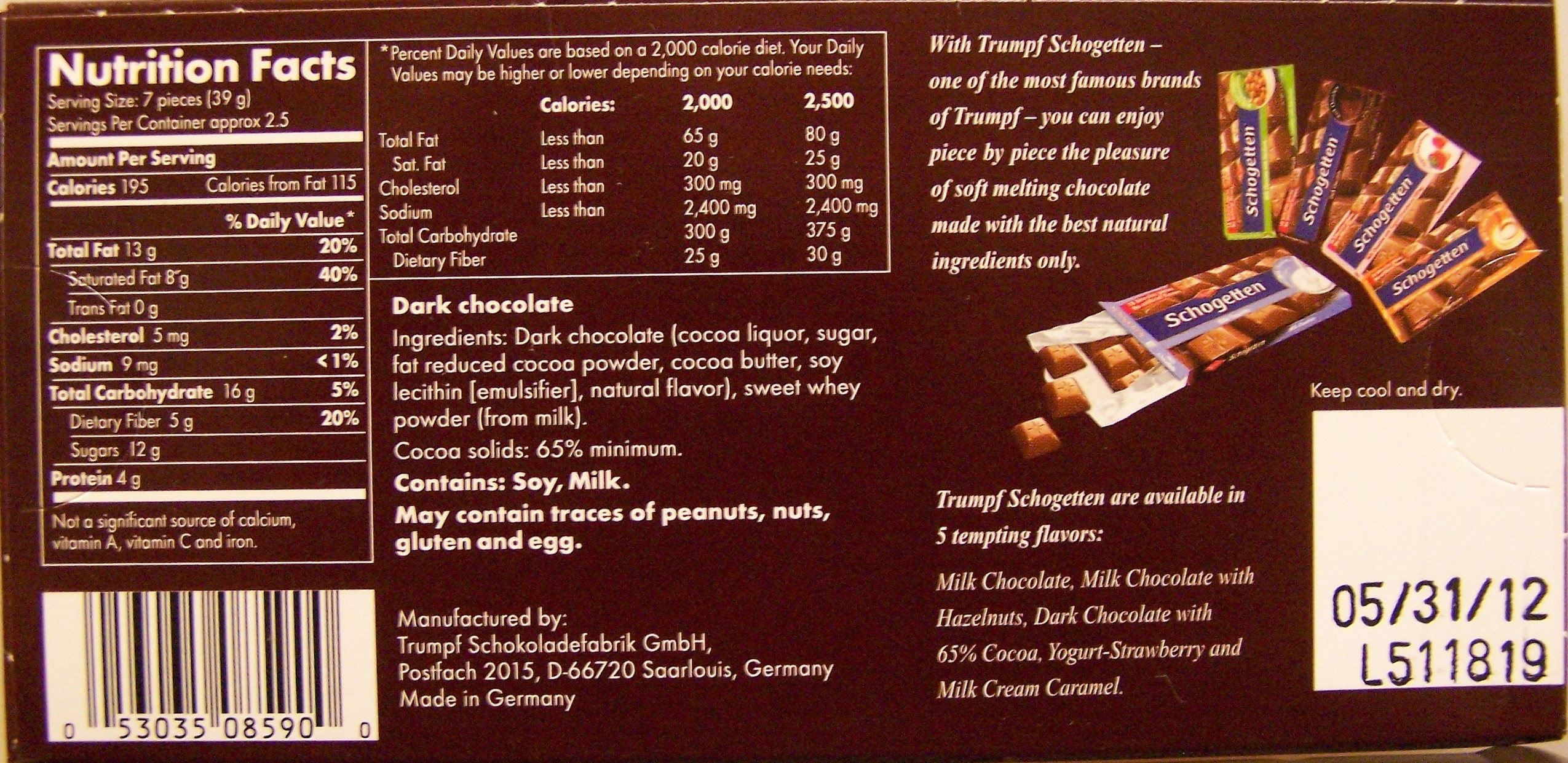 Brookside Chocolate Nutrition Facts together with Real Bacon Bits furthermore  on oscar mayer center cut bacon nutrition info