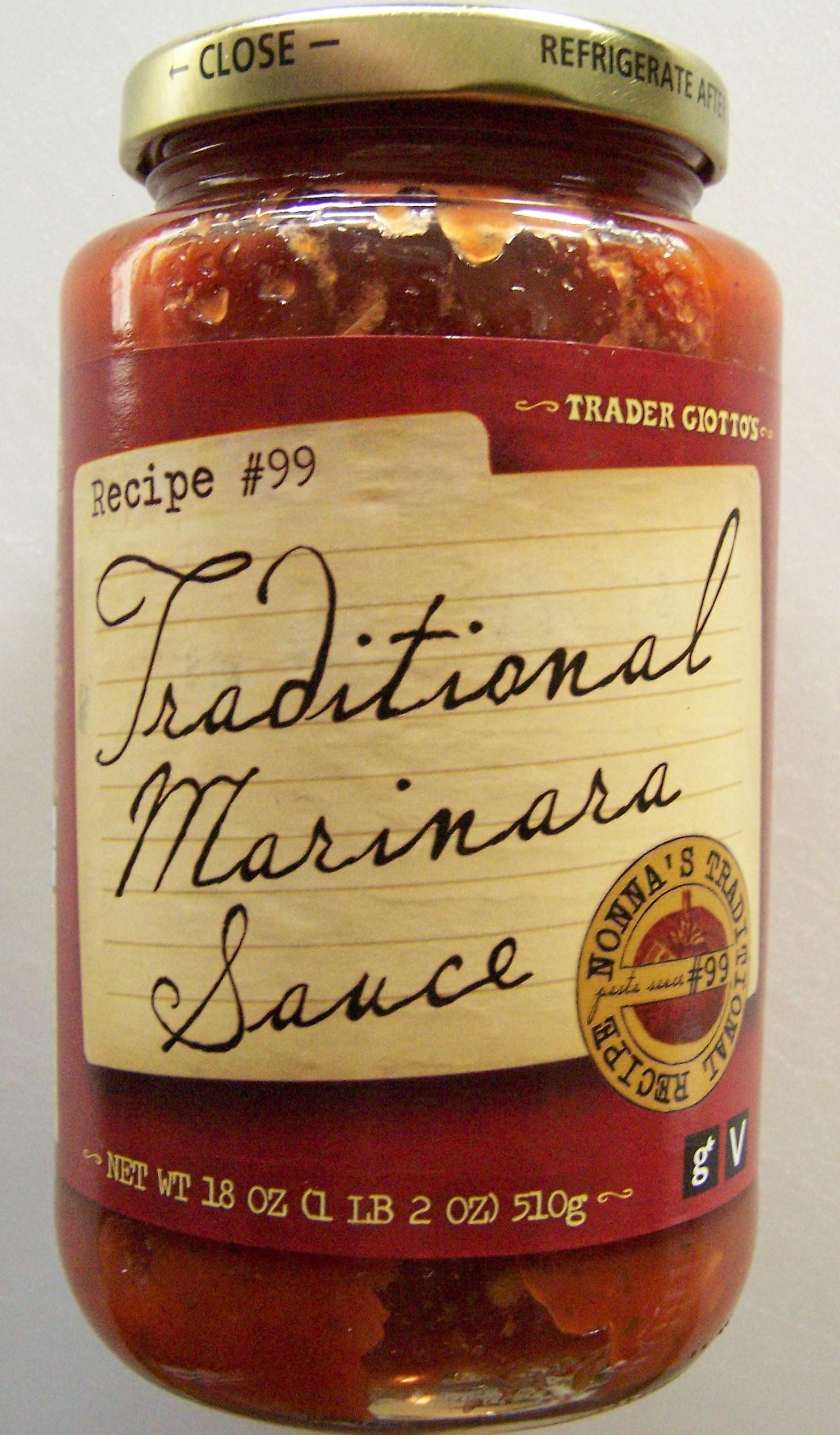 Trader joe s traditional marinara sauce food review for Trader joe s fish