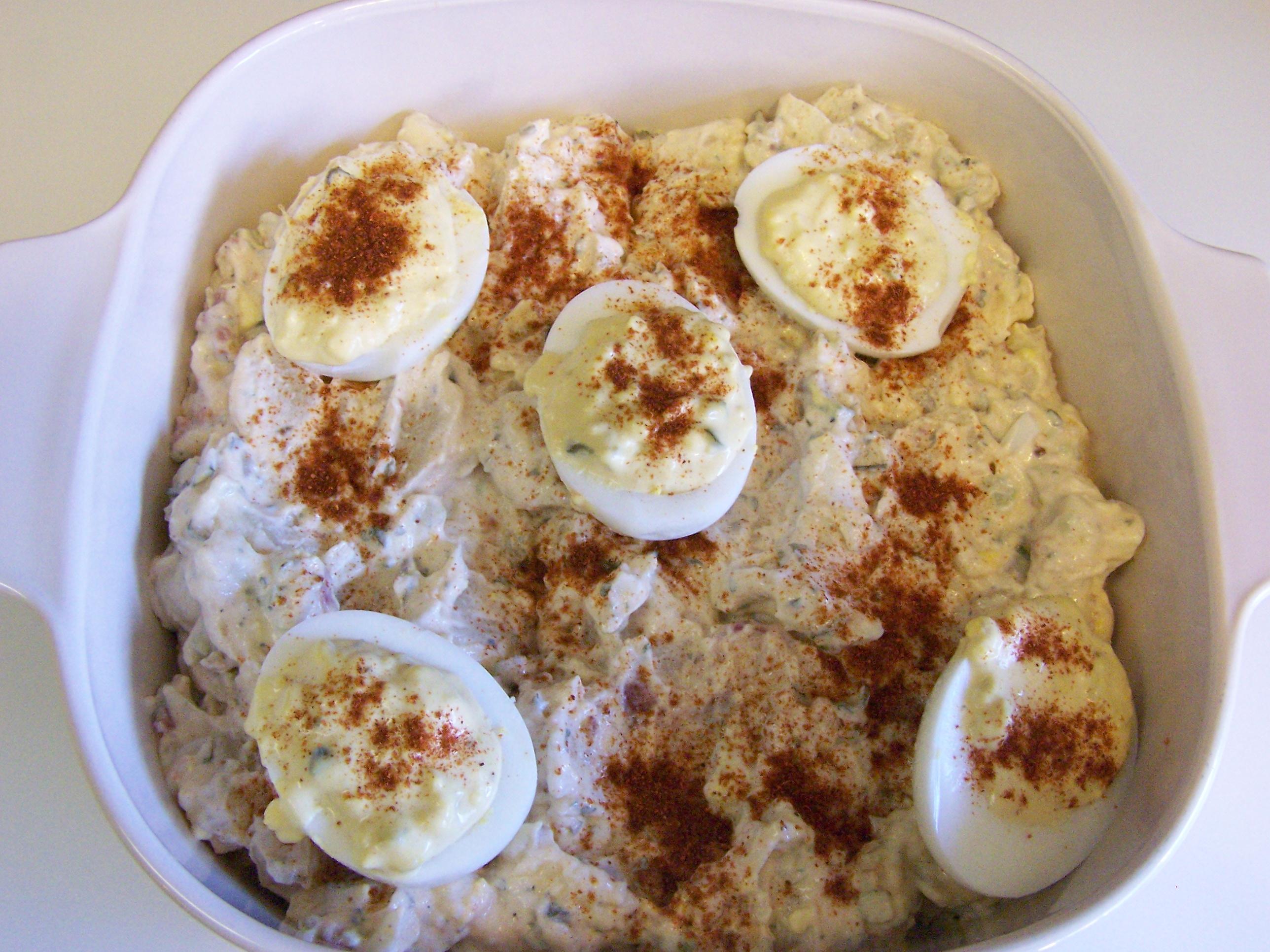 Deviled egg potato salad recipe ain 39 t found a good for How to make deviled egg potato salad