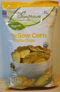 Simply Nature Organic Corn Tortilla Chips ALDI - front