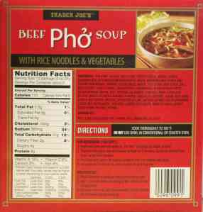 Trader Joe's Beef Pho Soup Back
