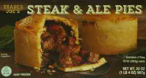 Trader Joe's Steak & Ale Pies - Front