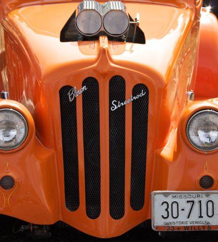 Orange Blown Street Rod