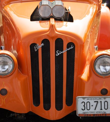 Orange Blown Street Rod
