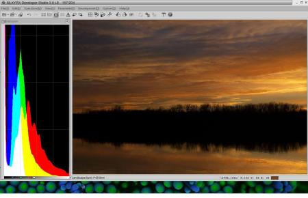 Sunset with Histogram