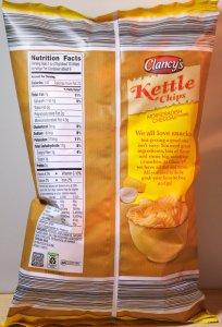 Clancy's Horseradish Cheddar Kettle Chips - ALDI - back