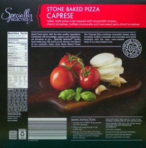 ALDI Caprese Pizza Back Label