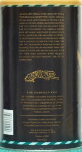 Aged Sumatra Coffee - Back Label Trader Joe's