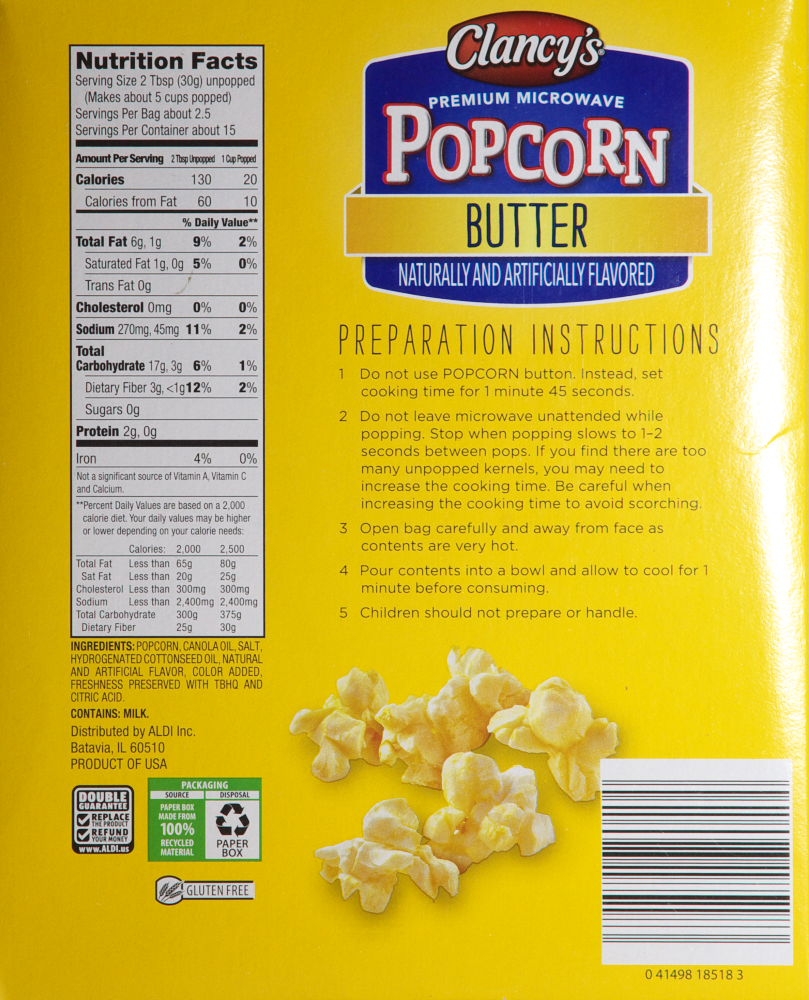 Clancy S Microwave Butter Popcorn Food Review Aldi Ain T Found A Good Title Blog