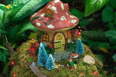 Vibrant Garden Gnome Residence
