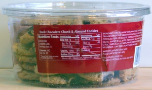 Dark Chocolate Chunk Almond Cookies Back Label Trader Joe's