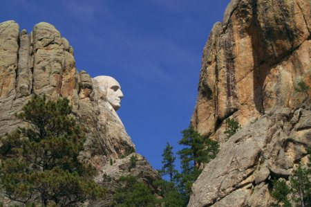 george washington, mount rushmore, profile