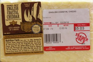 trader joe's, cheese, english coastal cheddar, review, price, calories