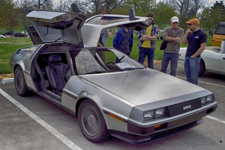 delorean, car, automobile, classic, future