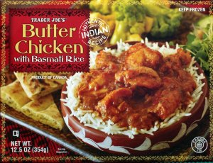 food, review, butter chicken, trader joe, basmati, indian