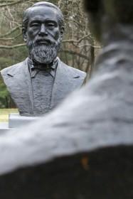 Sculpture, statue, man, face
