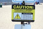 water, sign, E. coli, warning, health hazard, lake, human waste, lake michigan