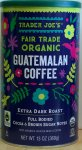Trader Joe, Guatemalan Coffee, Extra Dark Roast, whole bean, organic, fair trade