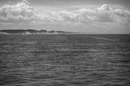 lake michigan, pure water, landscape, seascape, monochrome, water