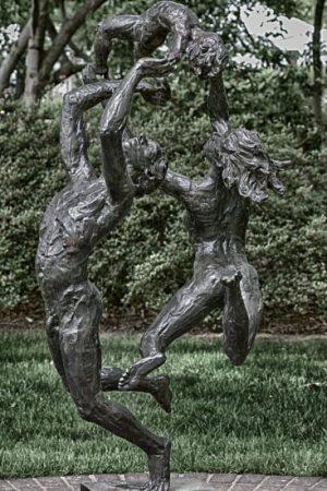 sculpture, art, dance, look up, photo, garden