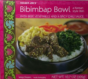 trader joe, bibimbap bowl, korean, food, rice, frozen