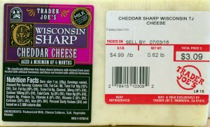 traer joes, wisconsin, sharp cheddar cheese