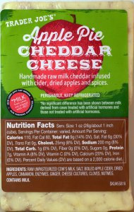 trader joes, apple pie cheddar cheese, cheese