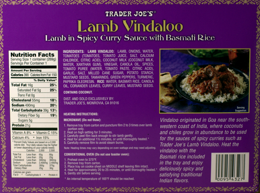 Trader joes lamb vindaloo food review aint found a good trader joe lamb vindaloo indian spicy food frozen nutrition forumfinder Image collections