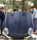1966, xke, e-type, jaguar, bonnet, car show