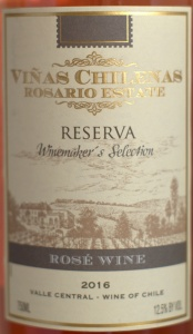 vinas chilenas rosario 2016, wine, rose, white wine
