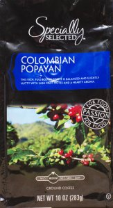 ALDI, Colombian coffee, ground, specially selected, Popayan