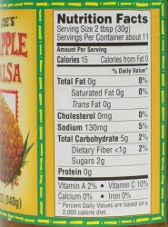 Trader Joe's, Pinapple Salsa, review, price, nutrition
