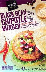 aldi, black bean chipotle burger, season's choice