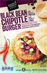 aldi, black bean chipotle burger, season's choice