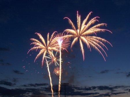 new year, 2017, fireworks, night