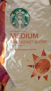 starbucks, breakfast blend, medium roast, whole bean, coffee