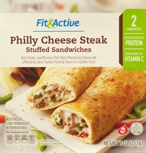 aldi, fit active, philly cheese steak, review, price