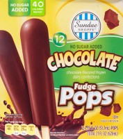 ALDI, chocolate fudge pops, review, low sugar