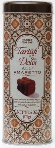 trader joes, truffles, amaretto, review