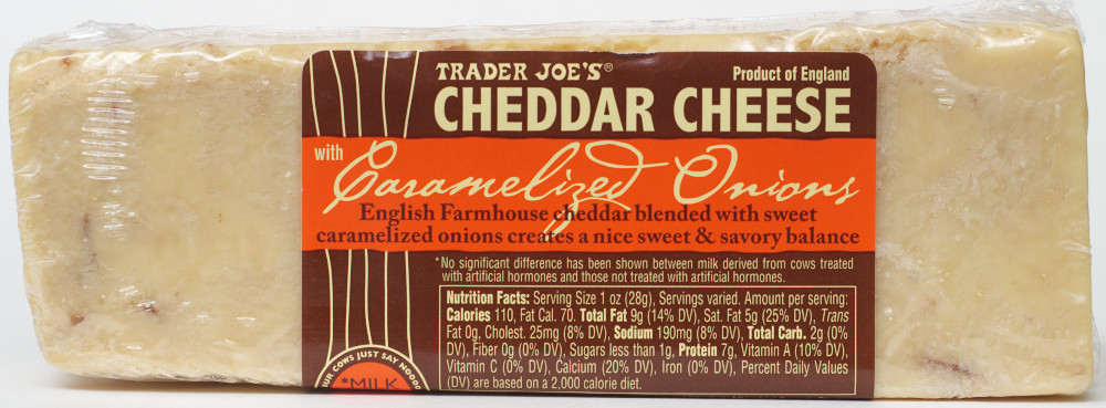 Trader Joe's – Cheddar Cheese with Caramelized Onions – Food ...