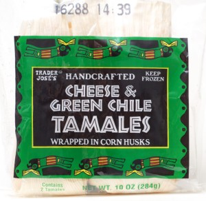 Trader Joe, cheese green chile tamale, review