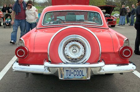 car, pink, t-bird, classic, tu-cool