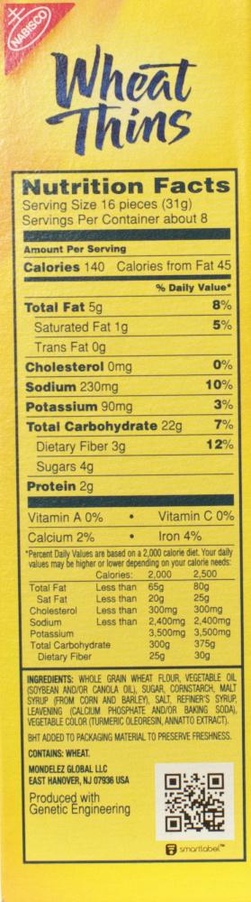 ALDI – Savoritz Wheat Crisp vs  Nabisco Wheat Thins – Food
