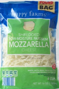 ALDI, happy farms, shredded mozzarella, review, calories, price