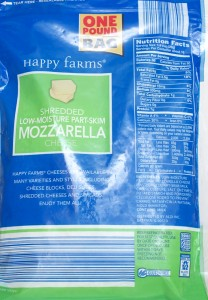 ALDI, happy farms, shredded mozzarella, review, calories, price, nutrition