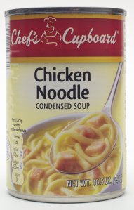 aldi, chefs cupboard, chicken noodle soup, review, price, calories