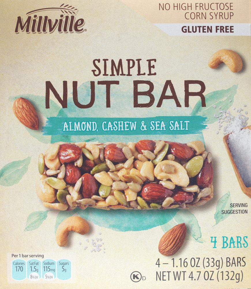 ALDI – Millville Simple Nut Bar – Almond, Cashew & Sea Salt